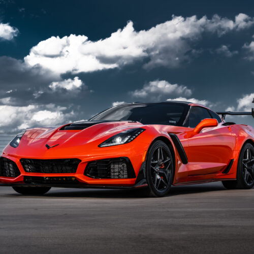 Orange C7 Corvette ZR1