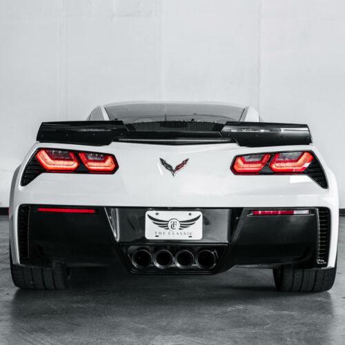 White Corvette Grand Sport