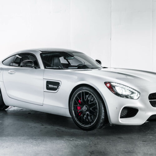 White Mercedes AMG GTS Rental Dallas TX