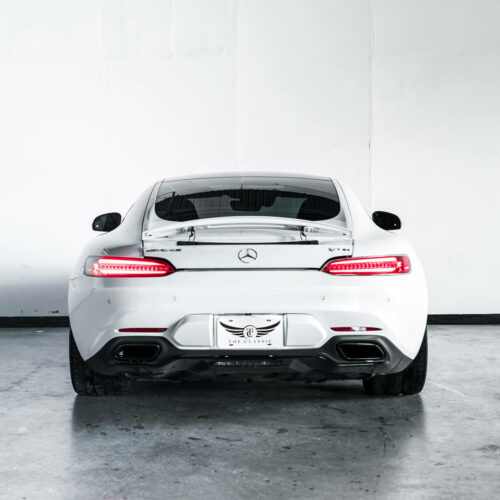 White Mercedes-Benz AMG GTS Rear End