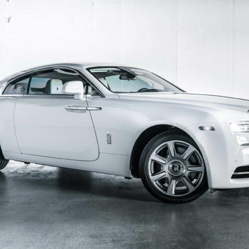 White Rolls Royce Wraith