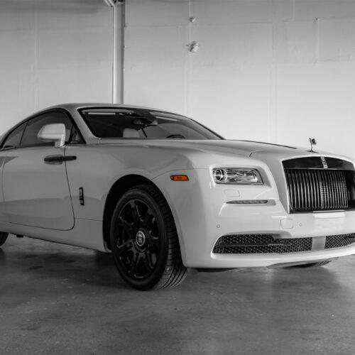 White Rolls Royce Rental Car